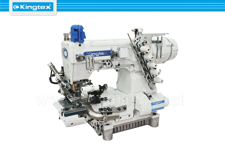 CTD-9085-0-356M/UCP-B1/CV-07A/RP-03 Maquina de coser recubridora de base cilíndrica especiales industrial Kingtex. Sewing machine Interlock special cylinder bed. reymatex españa portugal france italia.