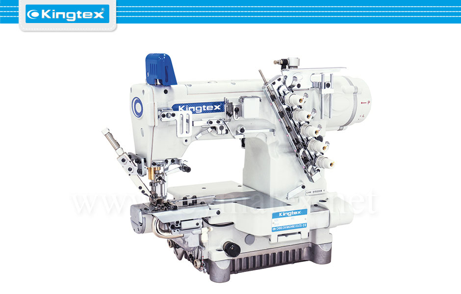 CTD-9811-0-356S1/UCP-P1 Maquina de coser recubridora de base cilíndrica especiales industrial Kingtex. Sewing machine Interlock special cylinder bed. reymatex españa portugal france italia.