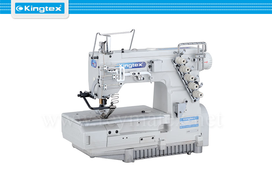 Maquina de coser recubridora de base plana especiales industrial Kingtex. Sewing machine Interlock flat bed special. reymatex españa portugal france italia