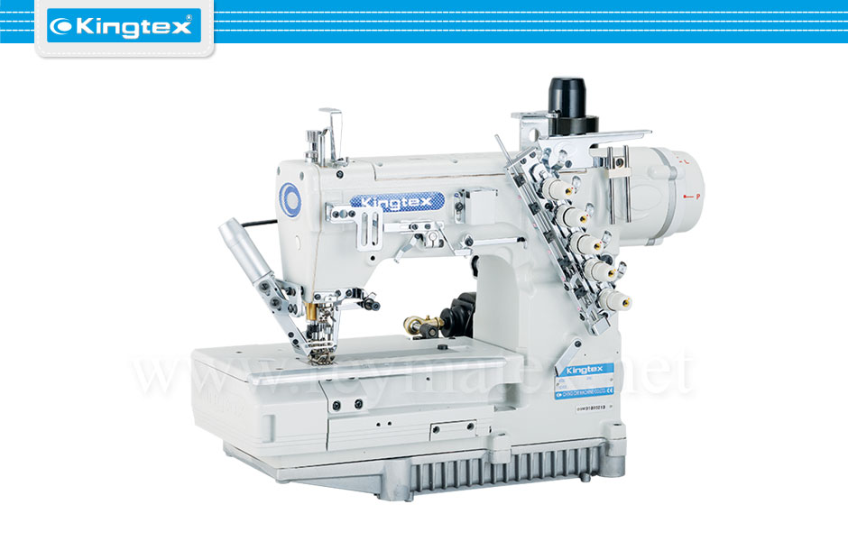 FTD-7000-0-364M/UFE-B1/B3 Maquina de coser recubridora de base plana industrial Kingtex. Sewing machine interlock flat bed. reymatex españa portugal france italia
