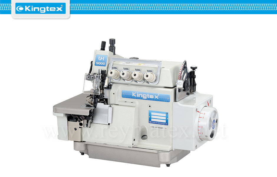 Maquina de coser industrial Kingtex overlock con arrastre superior motor en el cabezal top feed direct drive reymatex españa portugal france italia