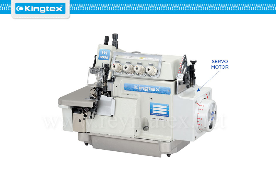 Maquina de coser industrial Kingtex overlock top feed & Direct drive arrastre superior y motor en el cabezal reymatex españa portugal france italia UHU-9000 series