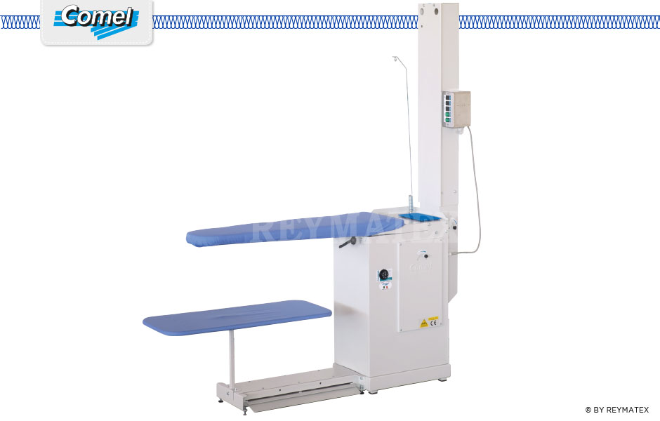 BR/A/S- Comel - Ironing - Industrial universal ironing tables with suction and blowing fan. Mesa de plancha aspirante soplante Comel.