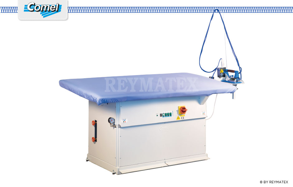 MP/A/PV Rectangular ironing machine not equipped with boiler. Mesa rectangular de aspiración 180x90 cm sin caldera.