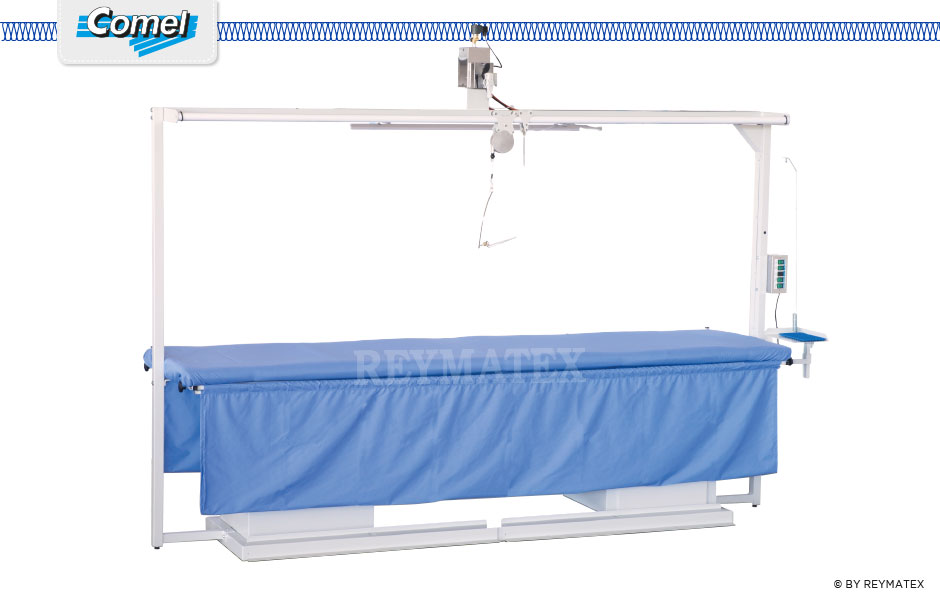 MP/F/T Rectangular ironing tables with suction fan function. Mesa rectangular de aspiración para planchar cortinas.