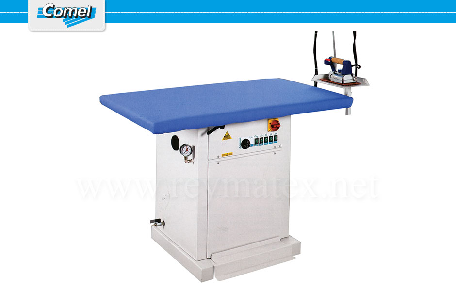MP/A - MP/A+ASP - MP/F MP/F-2E-3R. Rectangular ironing tables Comel. Mesa industrial rectangular Comel.