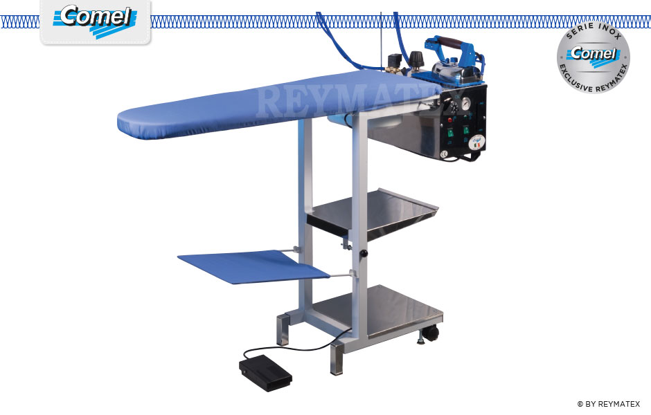 COMELUX-C5 / COMELUX-C5-S. Universal semi industrial ironing table Comel. Mesa de plancha semi industrial universal Comel.