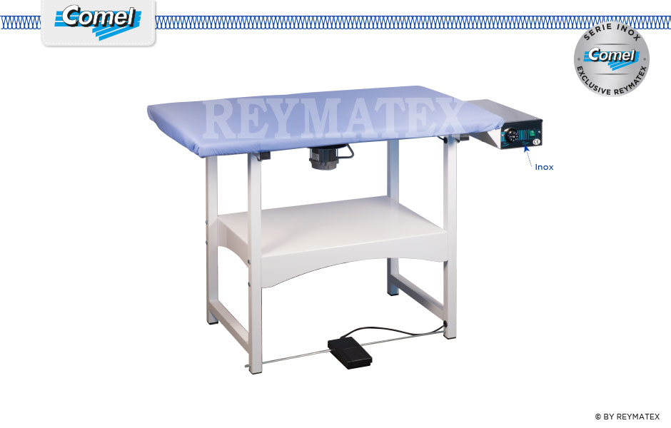 FUTURA-RA - Rectangular semi industrial ironing table Comel. Mesa de plancha semi industrial rectagular Comel.