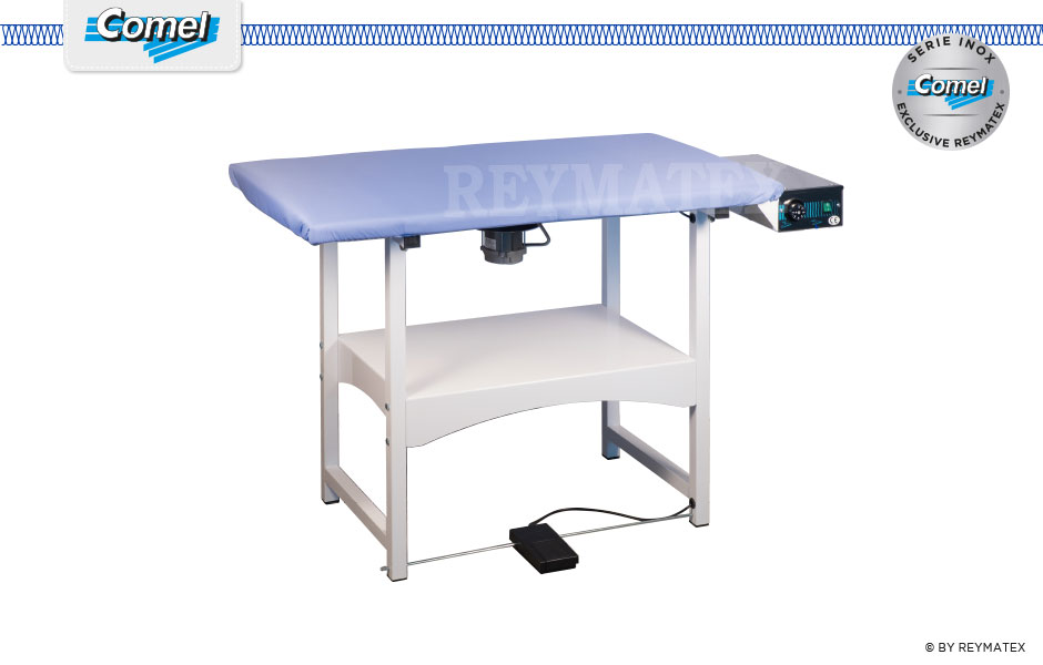 Futura-RA Mesa Rectangular semi industrial de plancha ironing table Comel. Mesa de plancha semi industrial rectagular Comel.