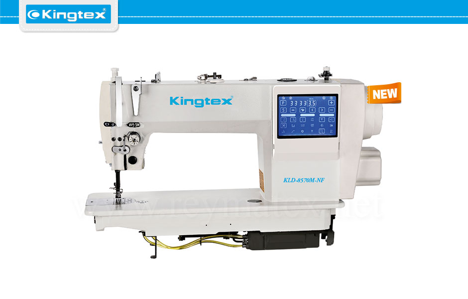 Kingtex lockstitch machines. KLD-8570M-NF reymatex españa portugal france italia. Máquina de coser industrial pespunte.