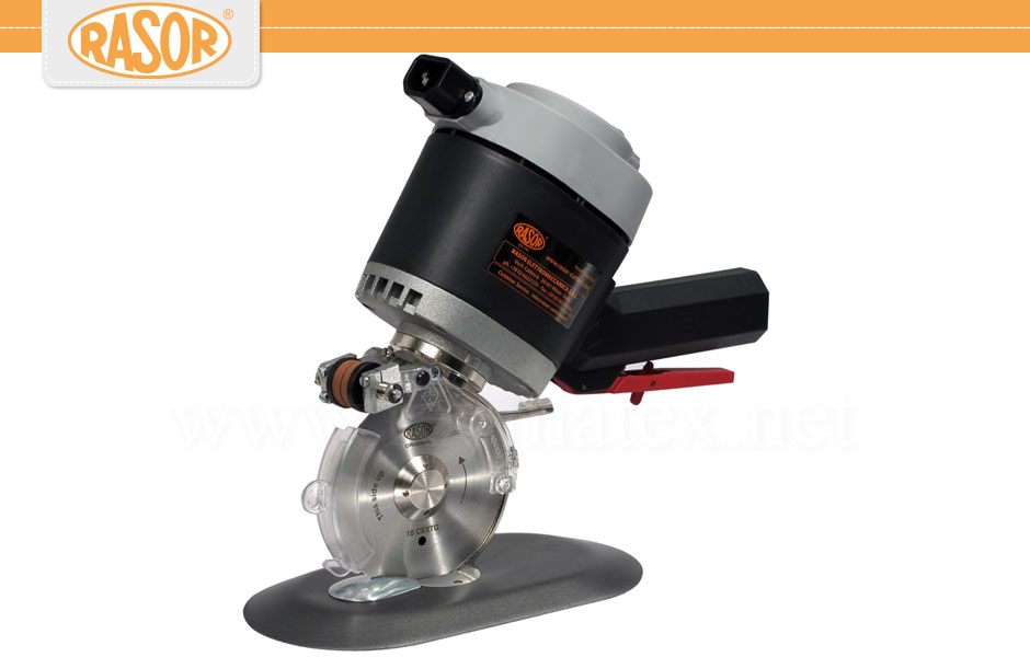 D100- Rasor - Cutting - Cuchilla circular con base o pie eléctrica. ELECTRIC BENCH CUTTERS Hand circular knife. Reymatex España.