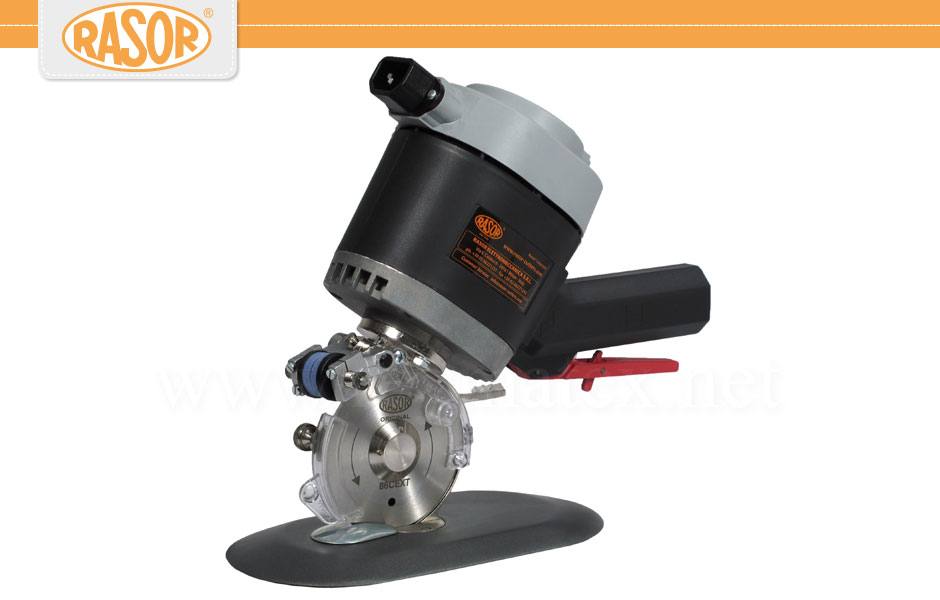 D86- Rasor - Cutting - Cuchilla circular con base o pie electrica. ELECTRIC BENCH CUTTERS Hand circular knife. Reymatex España.