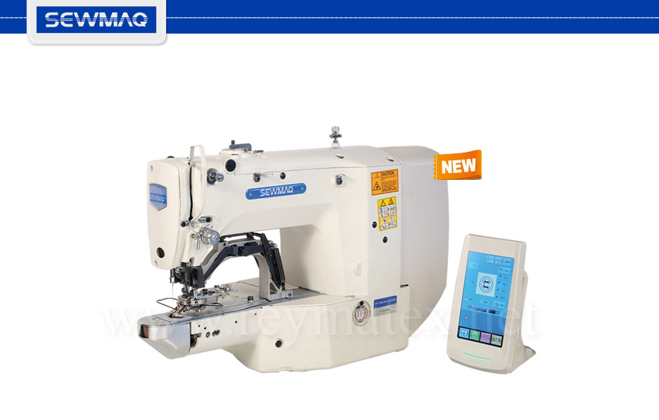 SW-1900A-3F Bartacking+button sewer+40x30mm pattern sewing machine. Máquina de presillas + botones + campo de 40x30 mm