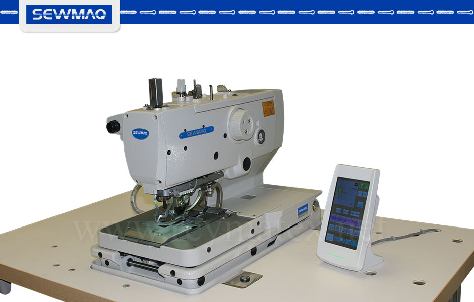 SW-9820-01-SM Buttonhole machines. Sewmaq. Industrial machines. Máquina de hacer ojales industrial. Reymatex Italia France deutchland