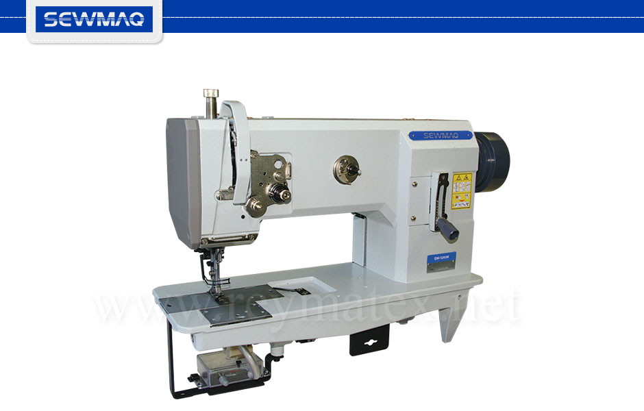 SW-1245H Sewmaq lockstitch, compound feed machine. Reymatex españa portugal france italia. Máquina de coser industrial de pespunte, de triple arrastre.