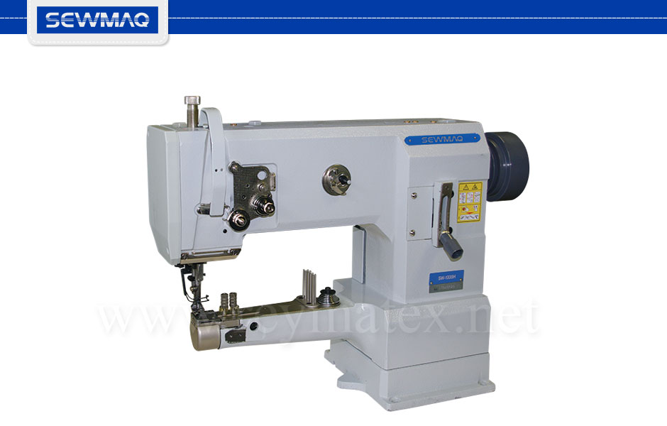 SW-1335H Sewmaq lockstitch - cylinder bed compound feed machine. Reymatex españa portugal france italia. Máquina de coser industrial de pespunte, de triple arrastre base cilíndrica.
