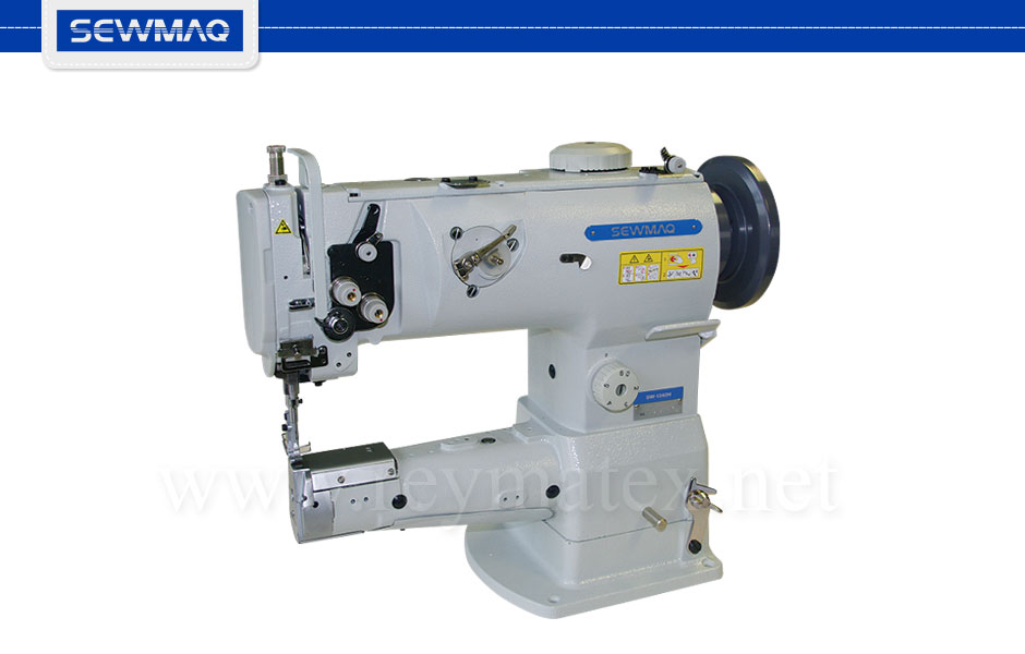 SW-1342H Sewmaq lockstitch - cylinder bed compound feed machine. Reymatex españa portugal france italia. Máquina de coser industrial de pespunte, de triple arrastre base cilíndrica.