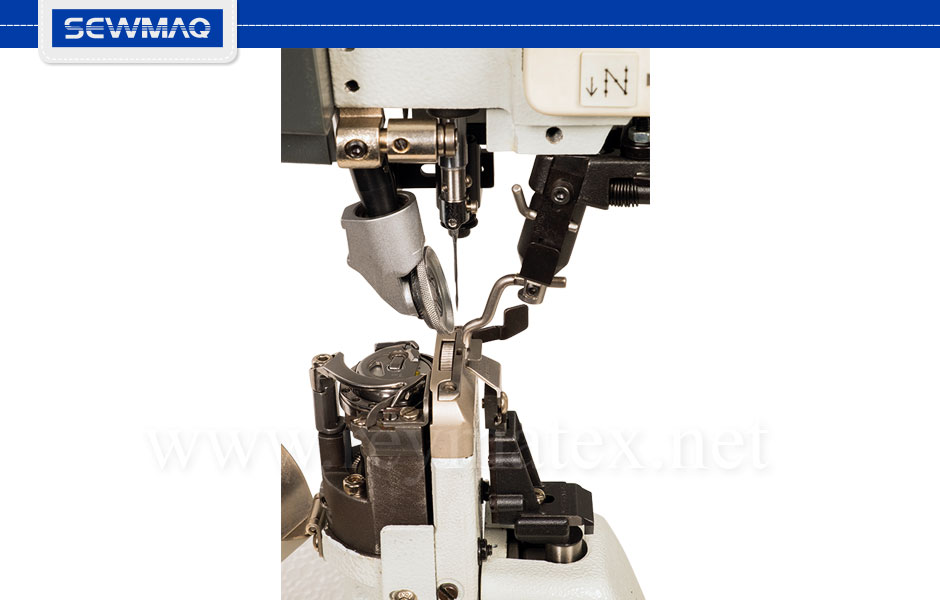 SW-1591R-7 Sewmaq lockstitch post bed machines for shoes- Máquina de pespunte para calzado de columna. Italia France España Portugal
