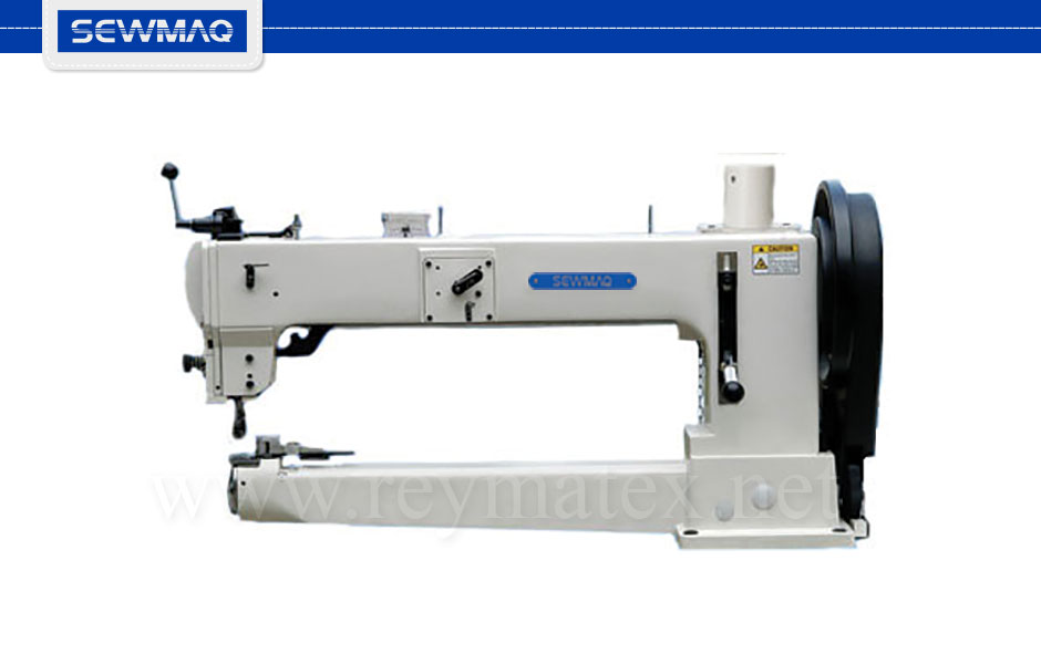 "SW-205SH-370-25""/BT/FL Sewmaq lockstitch - compound feed Barrel shuttle machine. Reymatex españa portugal france italia. Máquina de coser industrial de pespunte, de triple arrastre lanzadera Barrel."