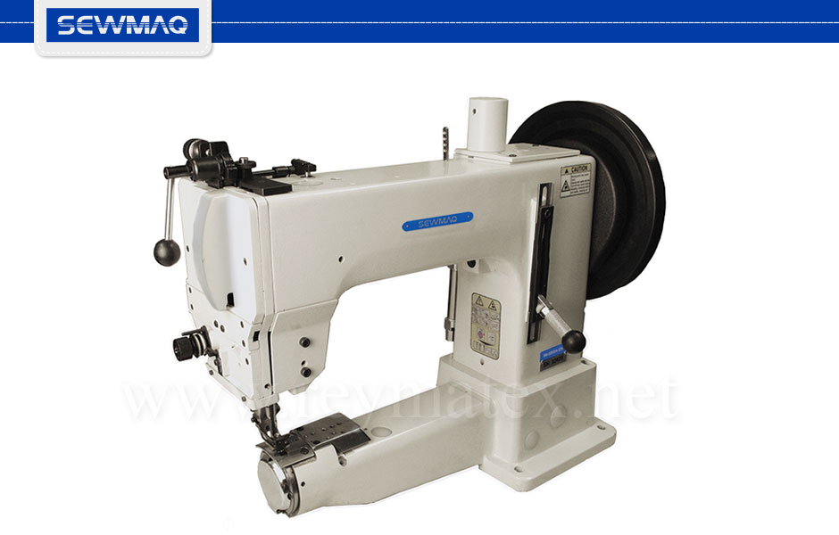 SW-205SH-370/BT/FL Sewmaq lockstitch - compound feed Barrel shuttle machine. Reymatex españa portugal france italia. Máquina de coser industrial de pespunte, de triple arrastre lanzadera Barrel.