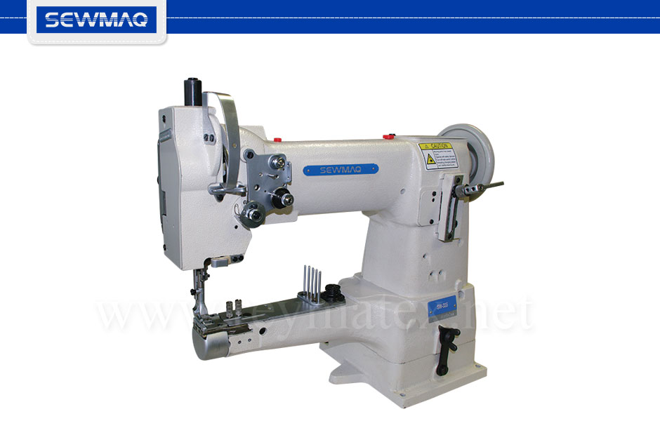 SW-335 Sewmaq lockstitch - cylinder bed compound feed machine. Reymatex españa portugal france italia. Máquina de coser industrial de pespunte, de triple arrastre base cilíndrica.
