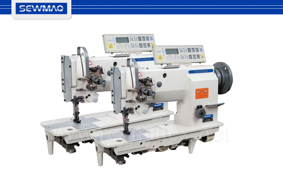 SW-4410H-7 - SW-4420H-7- Sewmaq lockstitch, compound feed with thread trimmer machine. Reymatex españa portugal france italia. Máquina de coser industrial de pespunte, de triple arrastre con cortahilos.