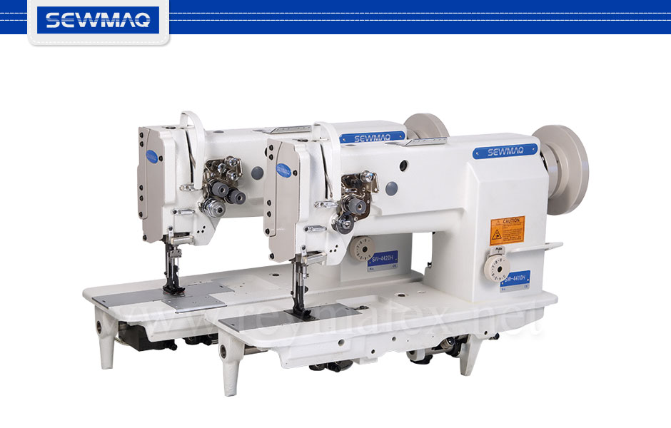 SW-4410H Sewmaq lockstitch, compound feed machine. Reymatex españa portugal france italia. Máquina de coser industrial de pespunte, de triple arrastre.