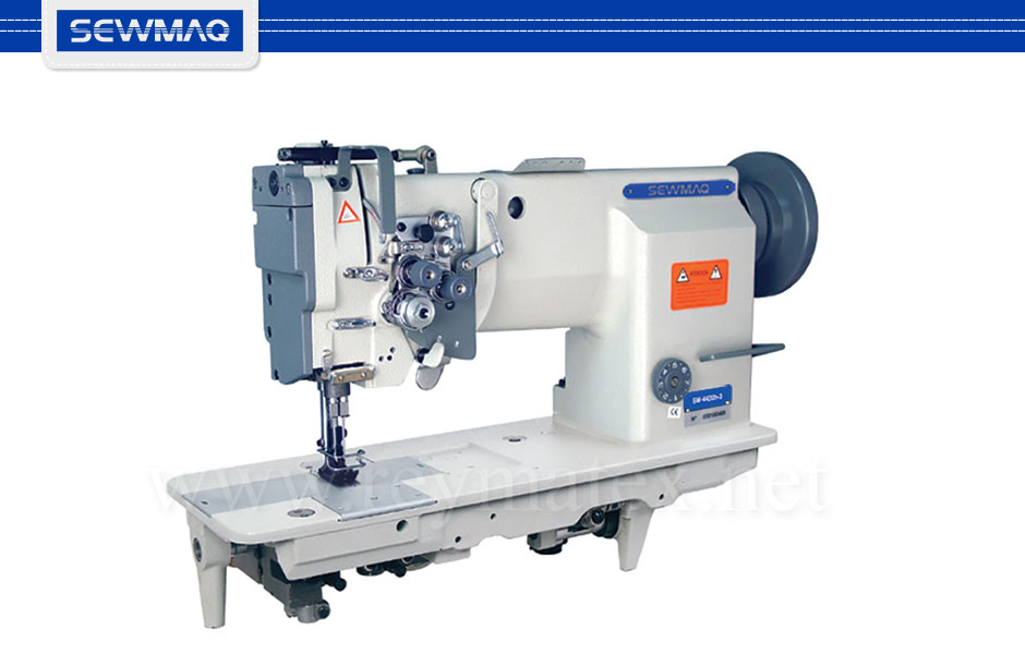 SW-4420H-3 Sewmaq lockstitch, compound feed machine. Reymatex españa portugal france italia. Máquina de coser industrial de pespunte, de triple arrastre.