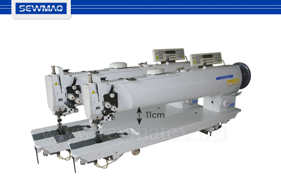 "4510H-25""-7 - 4520H-25""-7 Sewmaq lockstitch, long arm compound feed machine. Reymatex españa portugal france italia. Máquina de coser industrial de pespunte, de triple arrastre y puente largo."