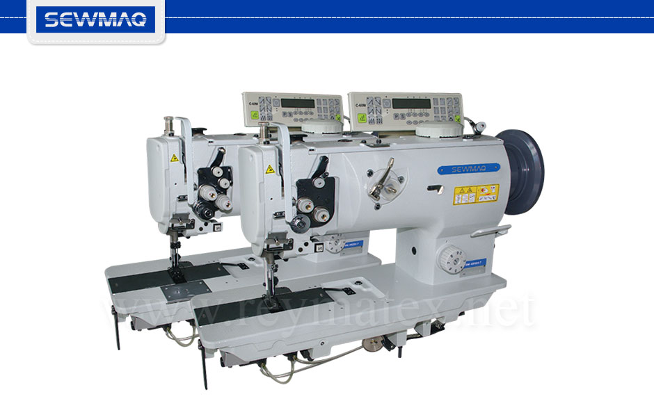 SW-4510H-7 - SW-4520H-7- Sewmaq lockstitch, compound feed with thread trimmer machine. Reymatex españa portugal france italia. Máquina de coser industrial de pespunte, de triple arrastre con cortahilos.