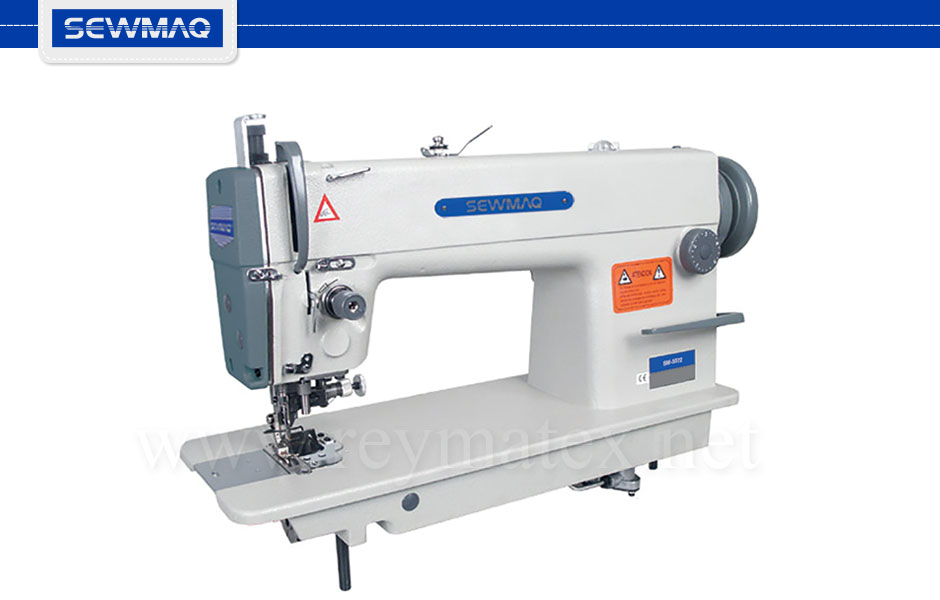 SW-5572- Sewmaq lockstitch double transport, Side cutter machines. Reymatex españa portugal france italia. Máquina de coser industrial de pespunte, de doble arrastre, coser y cortar.