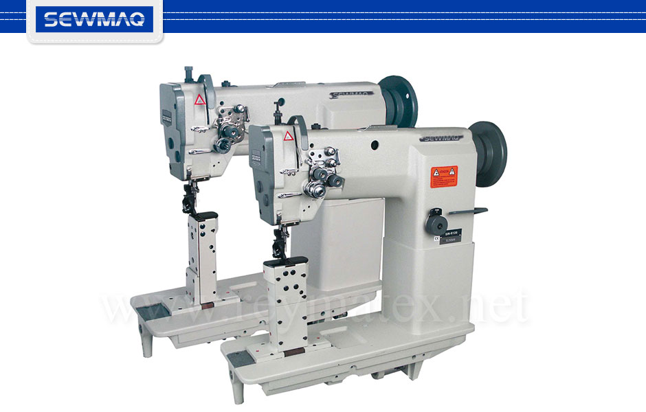 SW-8110 - SW-8120 - Sewmaq lockstitch post bed machines for shoes- Máquina de pespunte para calzado de columna. Italia France España Portugal