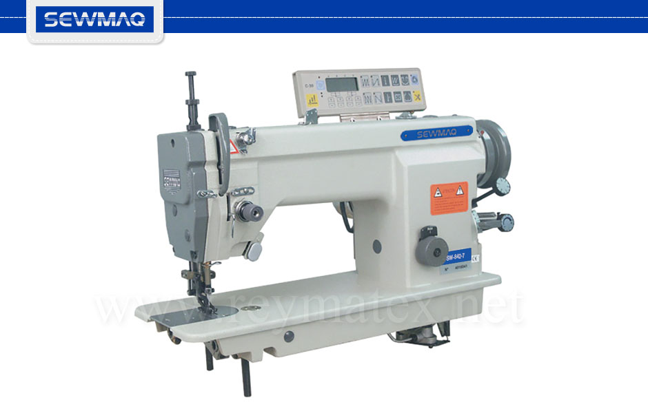 SW-842-7- Sewmaq lockstitch double transport, for ruffling machine Reymatex españa portugal france italia. Máquina de coser industrial de pespunte, de doble arrastre para fruncir.