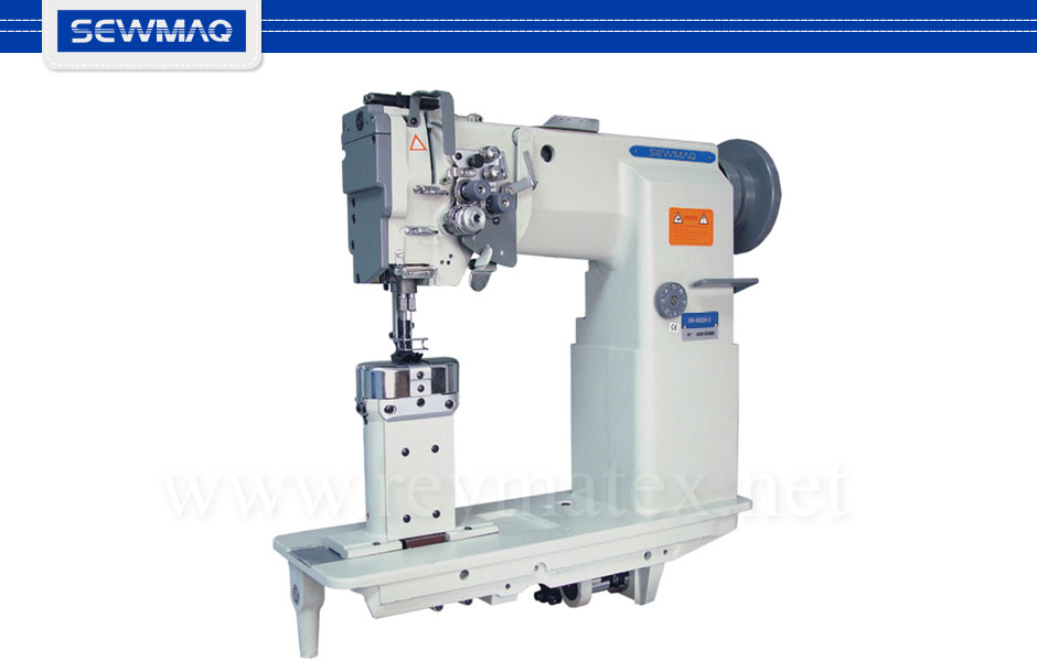 SW-8420H-3 - Sewmaq lockstitch - Post bed compound feed machine. Reymatex españa portugal france italia. Máquina de coser industrial de pespunte, de columna y triple arrastre.