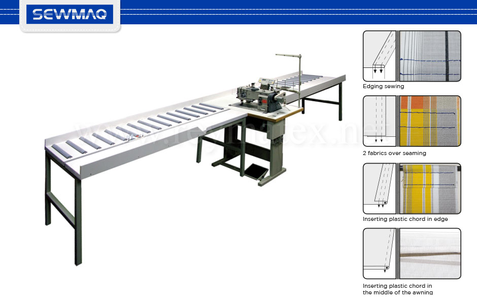 SW-898H-2-7T Sewmaq lockstitch - compound feed - Awning machine. Reymatex españa portugal france italia. Máquina de coser industrial de pespunte, de triple arrastre para toldos.