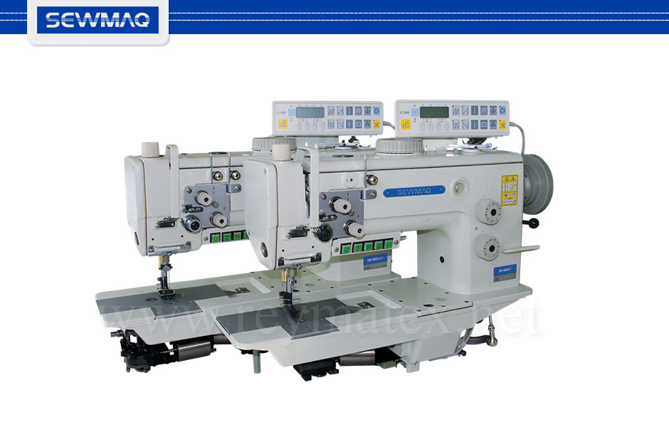 SW-898H-7 - SW-898H-2-7 Sewmaq lockstitch, compound feed with thread trimmer machine. Reymatex españa portugal france italia. Máquina de coser industrial de pespunte, de triple arrastre con cortahilos.