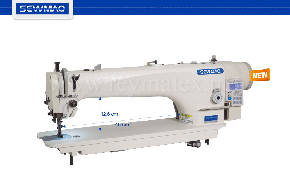 "SWD-206H-18""-7 Sewmaq lockstitch, compound feed machine. Reymatex españa portugal france italia. Máquina de coser industrial de pespunte, de triple arrastre."