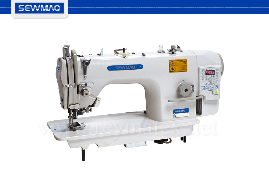 SWD-5572-7 Sewmaq lockstitch double transport, side cutter machines. Reymatex españa portugal france italia. Máquina de coser industrial de pespunte, de doble arrastre para coser y cortar.