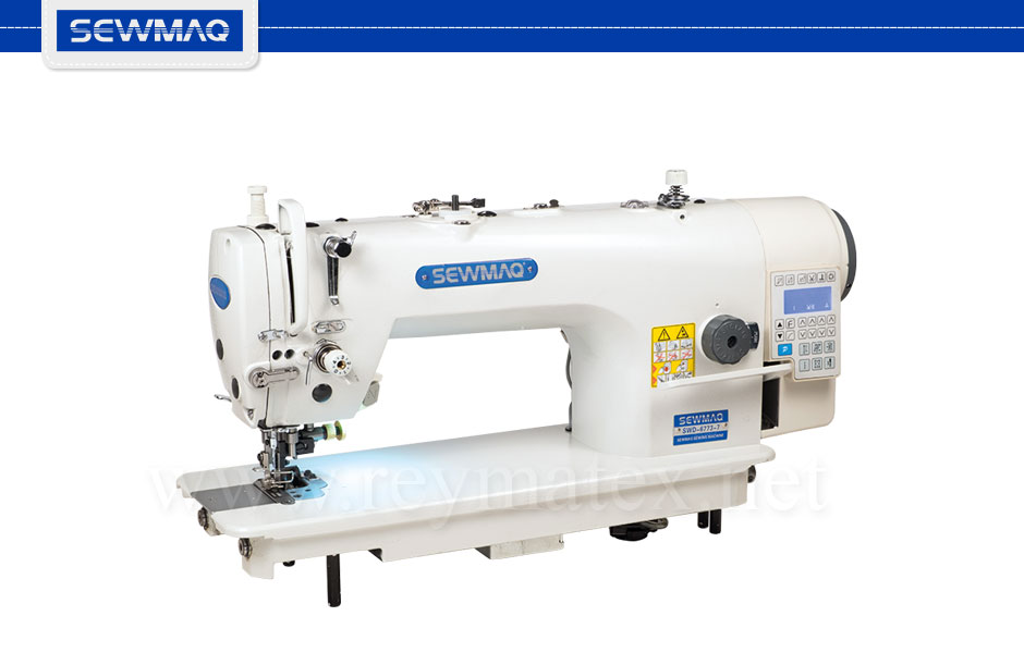 SWD-6773-7 Sewmaq lockstitch double transport, side cutter machines. Reymatex españa portugal france italia. Máquina de coser industrial de pespunte, de doble arrastre para coser y cortar.