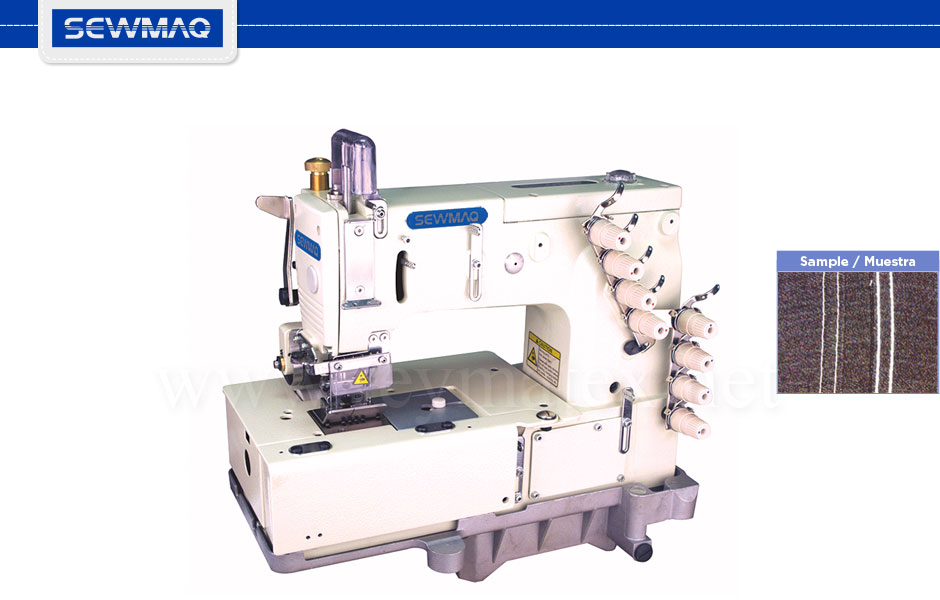 SW-1508P - Máquina para costura de tejanos. Chainstitch machine for jeans. Reymatex Italia - France - Deutschland - Portugal.