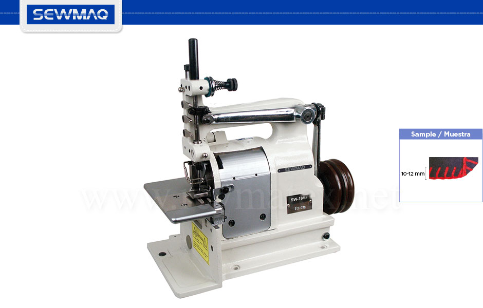 SW-17 / SW-18SF. Máquina de pechinas-Puntadas decorativas. Decorative stitches machine. Reymatex Italia - France - Deutschland - Portugal. España