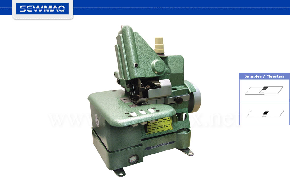 SW-306 / SW-306A - Máquina de coser por testa. Abutted seam sewing machine. Reymatex Italia - France - Deutschland - Portugal.