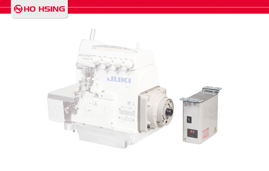 "HD40-3-67-220 + SENSOR Direct drive servo motor for Juki 6700S/D overlock machines. Equipped with the following functions: needle positioning, pneumatic chainstitch cutter, front fabric suction, pneumatic presser foot lifter and sensor for air saving. HD40-3-67-220 Direct drive servo motor for Juki 6700S/D overlock machines. Equipped with the following functions: needle positioning, pneumatic chainstitch cutter, front fabric suction, pneumatic presser foot lifter. HD40-3-67-220 + SENSOR 0A7799H Motor servo ""direct drive"" para máquinas overlock Juki MO6700S/D y MO6900. Incluye funciones de posicionamiento de aguja, cortacadenetas neumático, aspiración tejido recortado sobrante y alza prensatelas neumático. Incluye fotocélula para el ahorro de aire comprimido. HD40-3-67-220 Motor servo ""direct drive"" para máquinas overlock Juki MO6700S/D y MO6900. Incluye funciones de posicionamiento de aguja, cortacadenetas neumático, aspiración tejido recortado sobrante y alza prensatelas neumático."
