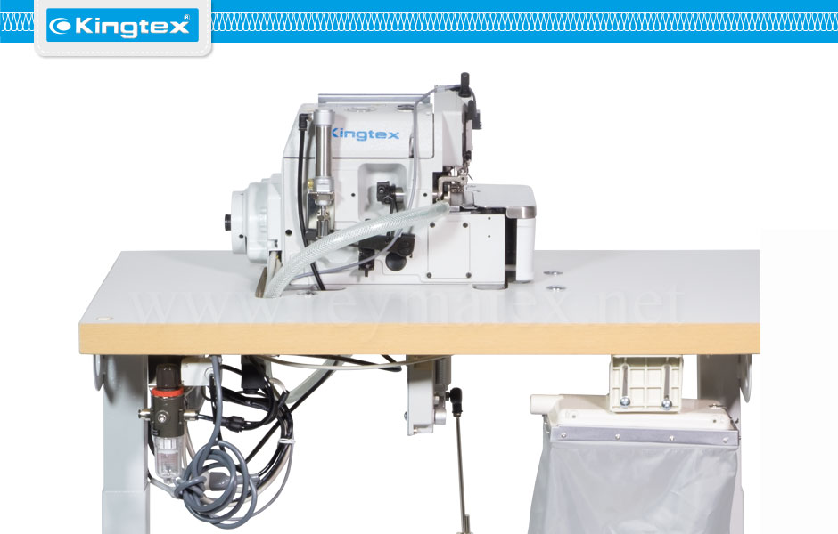 UH-9000/CV-08F2/HD40-3-U7-SERIES. Maquina de coser industrial Kingtex overlock con motor en el cabezal direct drive reymatex españa portugal france italia direct drive
