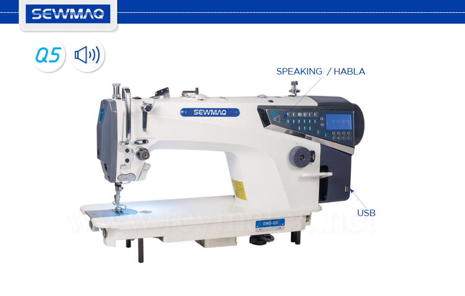 SWD-Q5 / SWD-Q5-L / SWD-Q5/PL Sewmaq lockstitch machines reymatex españa portugal france italia. Máquina de coser industrial de pespunte. Technical-specifications. Especificaciones técnicas