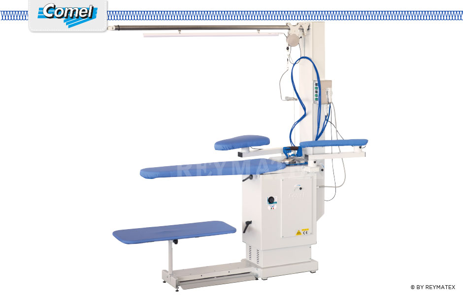BR/A/SR- Comel - Ironing - Industrial universal ironing tables with suction and blowing fan. Mesa de plancha aspirante soplante Comel.