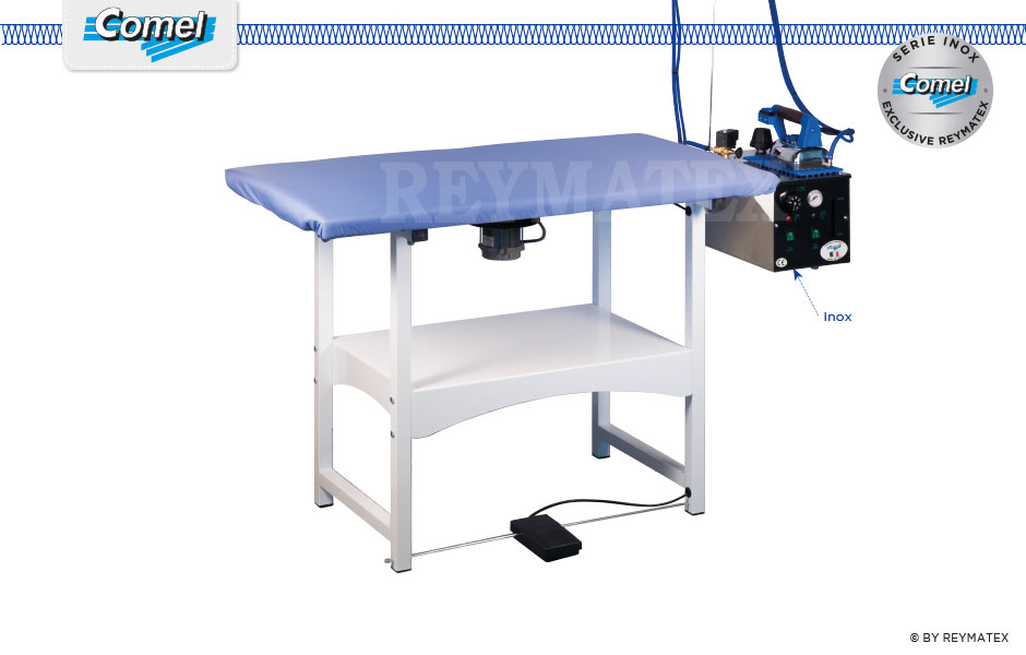 FUTURA-RC5 - Rectangular semi industrial ironing table Comel. Mesa de plancha semi industrial rectagular Comel.
