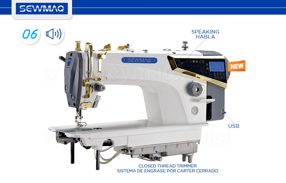 SWD-Q6 - Sewmaq lockstitch machines reymatex españa portugal france italia. Máquina de coser industrial de pespunte. Technical-specifications. Especificaciones técnicas